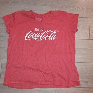 Coca cola tshirt womens xl